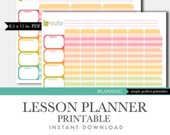 Lesson Planner Printable - Teacher Planner - Planning Binder - Homeschool
