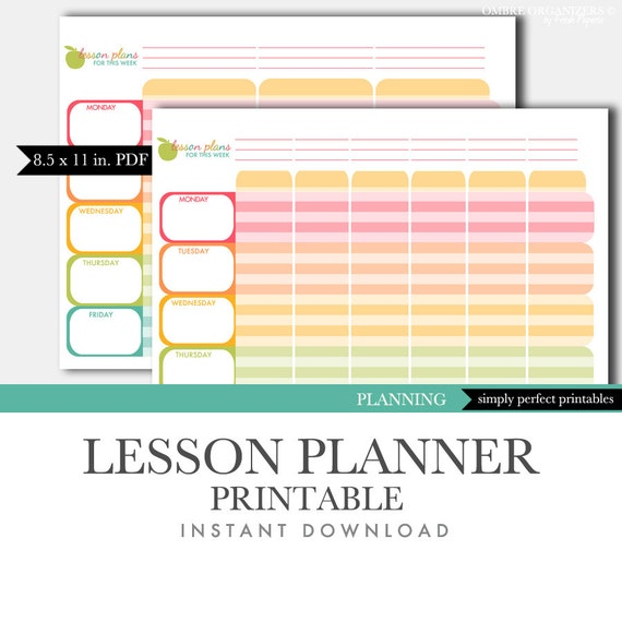 image about Lesson Planner Printable named instructor lesson planner printable -