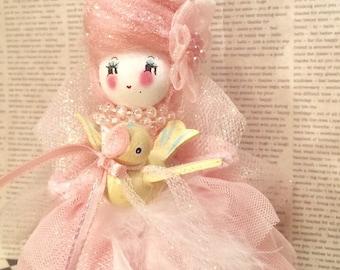 Marie Antoinette doll marie antoinette ornament pastel pink easter spring decor vintage retro inspired art doll french france paris