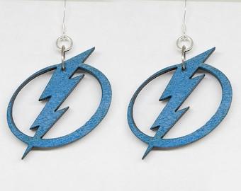 Tampa Bay Lightning Earrings |Lightning Drop Earrings, Lightning Stud Earrings, Tampa Bay Earrings, Hockey Earrings, Sports Earrings,For Her