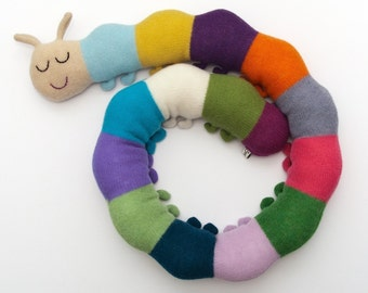 Kevin the Caterpillar Lambswool Plush Toy - Made to order