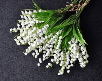 Artificial White Lily Of The Valley Faux Plastic Lily Of The Valley