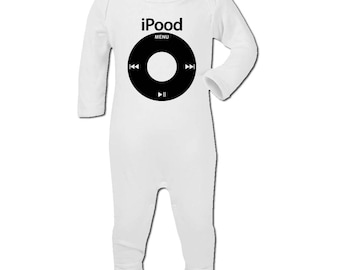 Babies Rompersuit iPood Parody Boy Girl Babyshow Gift New Baby Shower One Piece