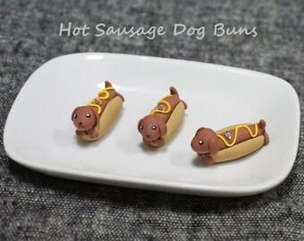 Hot Sausage Dog Bun Dachshund