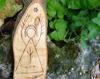 Norse pagan sign-Algiz Spirit - wicca, spirit of nature, pagan, witch, forest, druid, runes, goddess, god, magick, celtic,