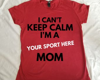 Personalized Keep calm sports mom