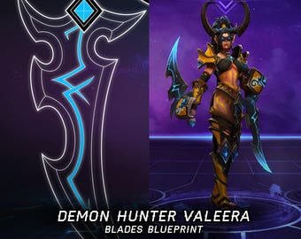Demon Hunter Valeera blades blueprint for cosplay