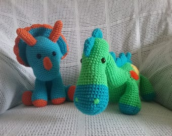 Collectable Steggie and Triceratops Stuffies