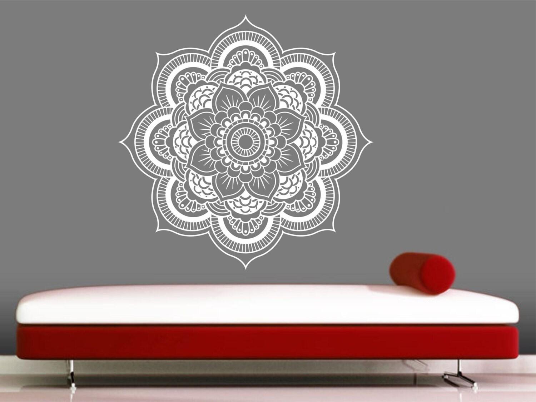 Mandala wall decal sticker yoga om namaste yoga decor wall zoom amipublicfo Choice Image