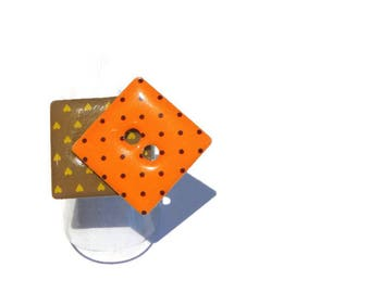 Paper ring, ring geometric ring buttons, ring box, button Brown and orange peas