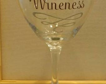 Her Wineness Wine Glass