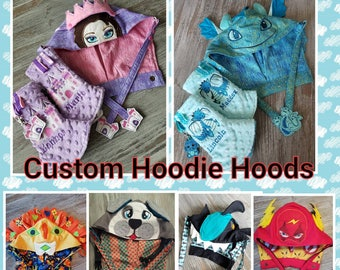 Custom HOODIE HOOD  and accessories for Kinderpack or Tula Carriers.