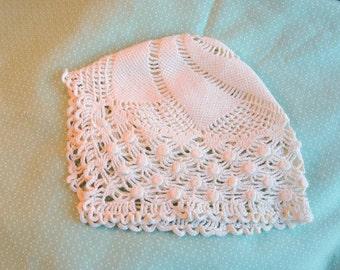 Vintage Children's Crocheted Christening Cap