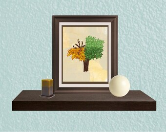 Kitchen Art - Entry Art Print - Wall Art Print - Seasonal Art - All Seasons Tree Digital Download Instant Print