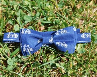 Navy blue bike bow tie