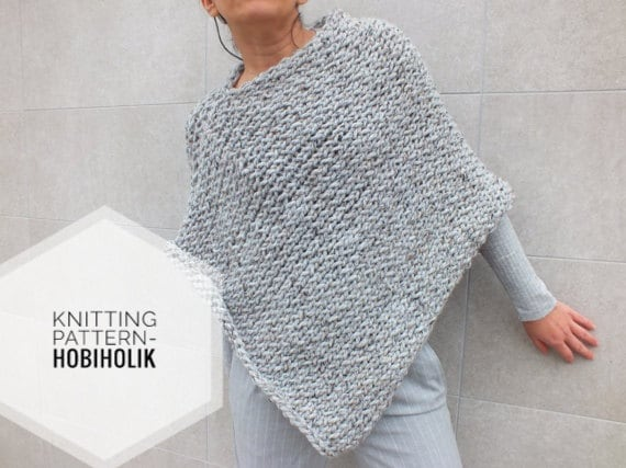 Pattern poncho easy to knit poncho pattern beginner pattern pattern poncho easy to knit poncho pattern beginner pattern instant download knitting patterns for ponchos dt1010fo