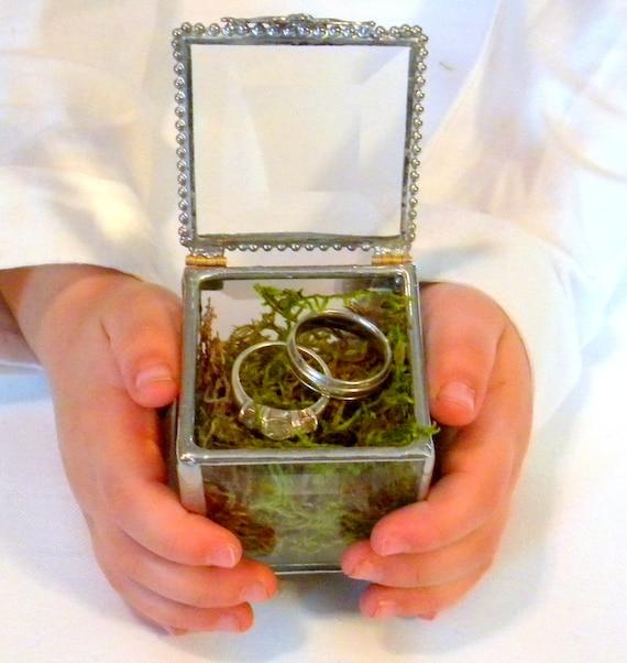 Ring holder box glass ring bearer box pillow alternative junglespirit Image collections