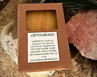 LEMONGRASS NATURAL HOMEMADE Soap, Handmade Soap, Soaps, Natural Soap Bar, Organic soap, Citrus soap, Herbal soap, Handcrafted soap