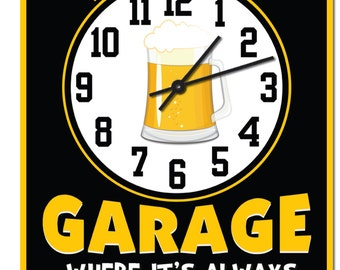 Personalized Mans Garage Wall Sign