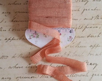Ribbon/ Trim- Apricot colored, for use in Journals, Junk Journals, Scrapbooks, Mixed Media, Collage, Tags, Layouts, Altered Projects