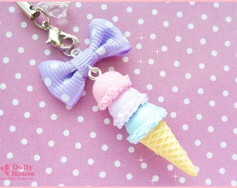 Kawaii strap -Pastel Ice-cream -  by Dolly House