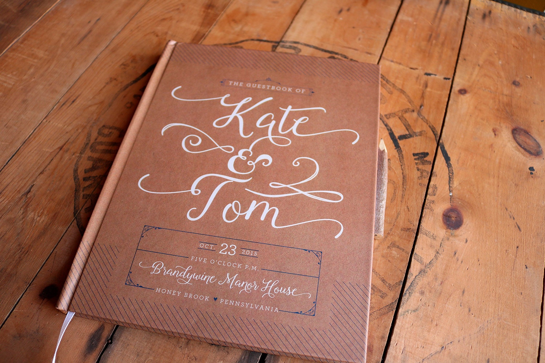 Kraft Wedding Guest Book Rustic Wedding Guestbook Custom