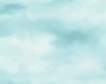 Naturescapes Aqua Clouds 21390-62 by Northcott Cotton Fabric Yardage