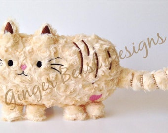 ITH Plush, ITH Stuffie, ITH Softie, In the Hoop, Machine Embroidery, Cat Stuffed Animal, Cat Plush, Ith Cat, Stuffed Kitten