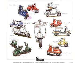 VESPA Scooter Fine Art Print - (Supersprint 90 GS 150 GL 180 200 Rally Sportique)