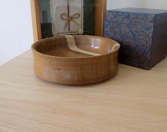 Teak Bowl with Oak Stripe