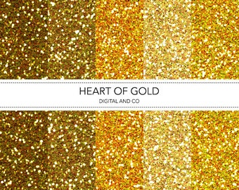 Digital Gold Glitter Texture, Instant Download, Pattern for Photoshop, JPG included.