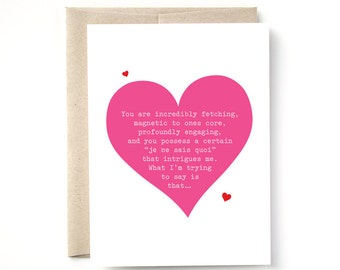 Naughty Valentine, Love, Anniversary Card, A2 Card