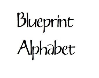 Instant Download - Blueprint Alphabet Filet Crochet Cross Stitch Pattern