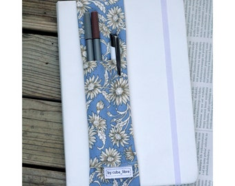 Notebook pen holder - Leaves