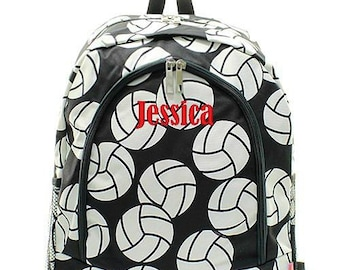 Monogrammed Backpack Personalized Volleyball Backpack Personalized Backpack Kids Backpack Girls Backpack Boys Backpack