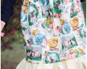 Girls ruffle skirt, Easter skirt, spring skirt, girls fashion, party skirt