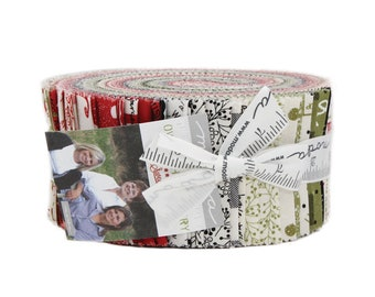 Overnight Delivery Jelly Roll (42 - 2 1/2 x WOF Strips) designed by Sweetwater for Moda Fabrics, 100% Premium Cotton
