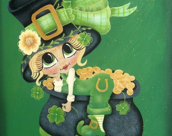 St. Patty's wooden plaque, Sherri Baldy