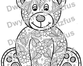 Teddy Bear Coloring Page JPG