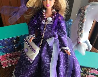 Barbie Purple Princess Dress & Accessories
