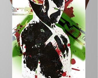 "SPAWN, Hellspawn, Albert ""Al"" Francis Simmons  Fan Art Poster, Image Comics"