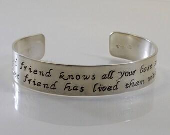 Best Friend Bracelet - A good friend knows all your best stories...