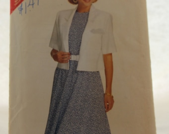 See and Sew 6161 by Butterick Vintage Sewing Pattern Misses' Jacket and Dress Size 16-24 / very easy / plus size women / ladies fashion /