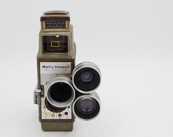 Bell & Howell Two-Fifty-Two 8mm Movie Camera With Triple Lens Assembly