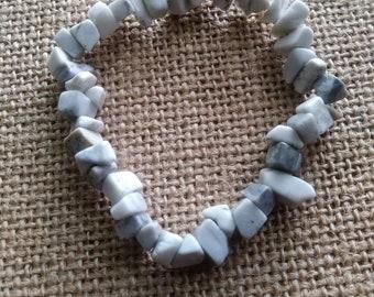Howlite yoga bracelet / stretch bracelet / elastic
