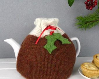 Christmas Pudding Tea Cosy, Tea Cosy, Tea Cozy, Made in Scotland, Christmas Gift, Tea Drinkers Gift, Christmas Tea Cosy