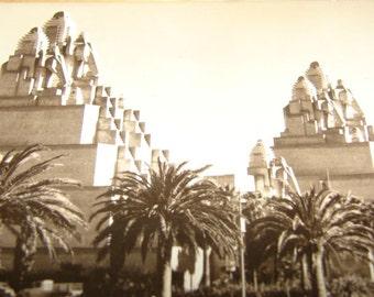 Elephant Towers Postcard 1939 Golden Gate International Exposition