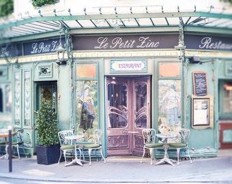 Paris Photography - Le Petit Zinc, Paris Home Decor, Paris Wall Art, Travel Fine Art Photograph, Kitchen Art, Large Wall Art