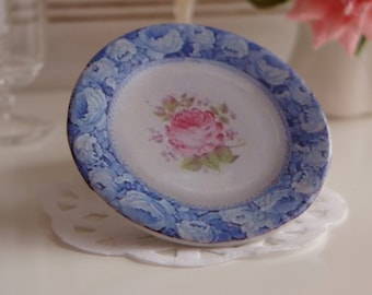 Miniver Rose Dollhouse Miniature Plate