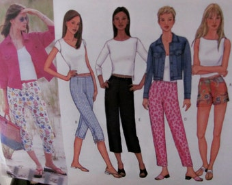 Butterick 6946 Very Easy Shorts, Capris, Skinny Pants, Jeans Jacket Size 6, 8, 10 UNCUT Sewing Pattern